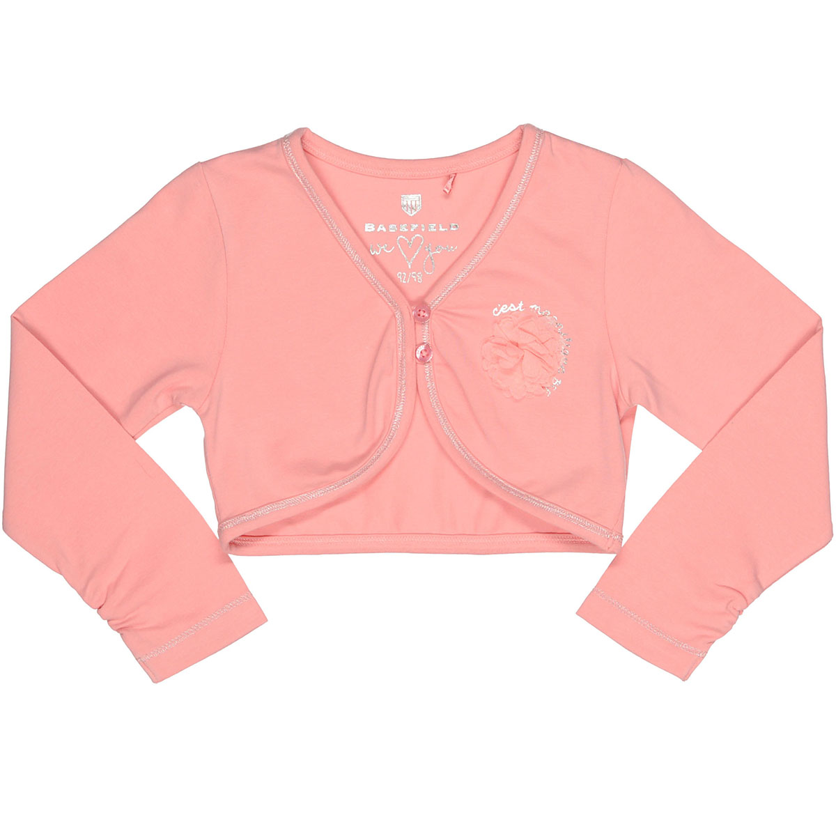 Bolero mit applikation rose for Bolero garderobe