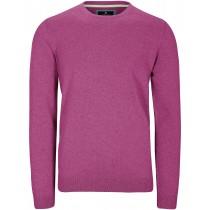 Rundhals Pullover Cotton-Stretch - Dark Violet Meliert