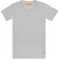 T-Shirt SLIM FIT - Grau Meliert