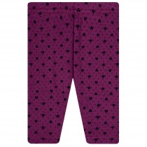 Thermoleggings Herzen - Purple