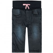 Baby Thermojeans mit Schleife - Blue Denim