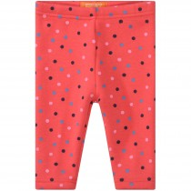 Baby Thermo Leggings Punkte - Neon Red