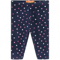 Baby Thermo Leggings Punkte - Dark Marine