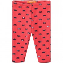 Baby Thermo Leggings Cats - Neon Red