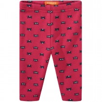 Baby Thermo Leggings Cats - Rasberry