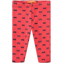 Mini Thermo Leggings Cats - Neon Red
