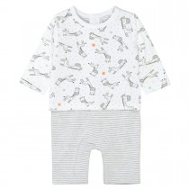 ORGANIC COTTON Overall 2-in-1 Look - White