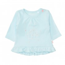 ORGANIC COTTON Tunika Dream Big - Cyan