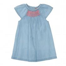 Kleid mit Stickerei - Denim Blue