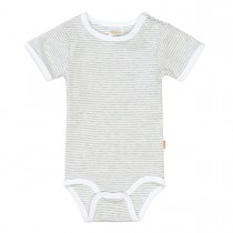 ORGANIC COTTON Body Streifen - Light Grey Melange