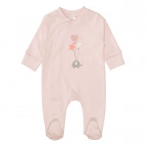 ORGANIC COTTON Pyjama Elefant - Soft Rose