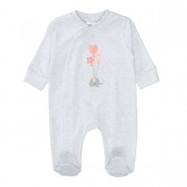 ORGANIC COTTON Pyjama Elefant - Light Stone Melange