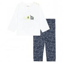 ORGANIC COTTON Pyjama Elefanten - White