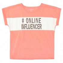 Boxy T-Shirt  #Online Influencer - Neon Peach