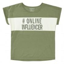 Boxy T-Shirt  #Online Influencer - Khaki