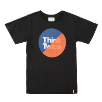 T-Shirt Think Twice - Black