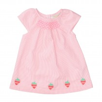 Kleid mit Applikation - Pink Lemonade Streifen