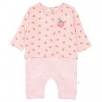 ORGANIC COTTON Overall ERDBEERE - Soft Blush