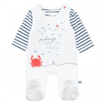 ORGANIC COTTON Strampler mit Shirt MUMMYS BOY - White