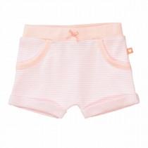 ORGANIC COTTON Shorts mit Streifen - Soft Peach
