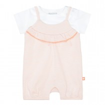 Strampler mit T-Shirt - Soft Peach