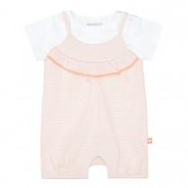 Strampler mit T-Shirt - Soft Peach