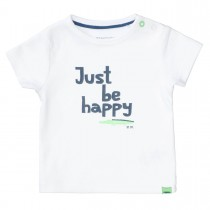 ORGANIC COTTON T-Shirt HAPPY - White