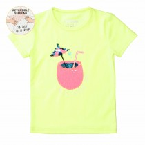 WENDEPAILLETTEN T-Shirt SUMMER TIME- Neon Sun