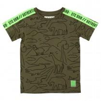 T-Shirt mit Dschungel-Print - Dark Olive