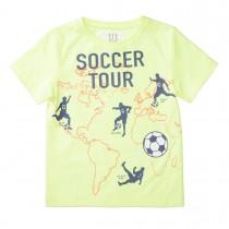 T-Shirt SOCCER TOUR - Neon Sun