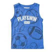 Tank Top mit Ball-Prints - Royal Blue