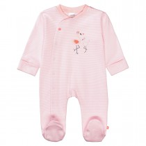 ORGANIC COTTON Pyjama mit Streifen - Soft Peach