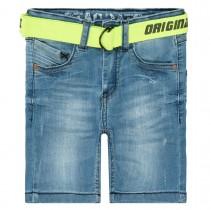 Jeans-Bermudas mit Gürtel - Blue Denim