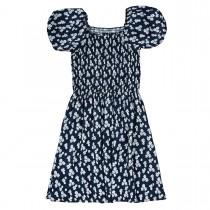 Kleid mit Blümchen-Print - Deep Tinte