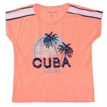 Boxy-T-Shirt CUBA - Neon Melon