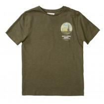 T-Shirt mit Print auf der Rückseite - Dark Olive