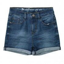 Jeans-Shorts High Waist - Mid Blue Denim