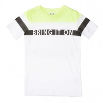 T-Shirt Bring It On Slim Fit - Neon Sun White