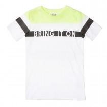 T-Shirt Bring It On Slim Fit - Neon Sun White
