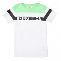 T-Shirt Bring It On Slim Fit - Summergreen White