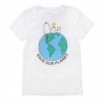 ORGANIC COTTON T-Shirt OUR PLANET - White