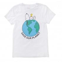 ORGANIC COTTON T-Shirt PLANET - White