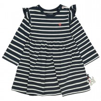 Kleid im Streifen-Design - Tinte