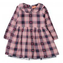 Karo-Kleid Herzchen - Tinte