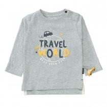 Langarmshirt TRAVEL THE WORLD - Cold Grey