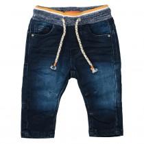 Jeans mit Tunnelzug - Dark Blue Denim