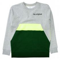 Sweatshirt  - Grey Melange Forest mit farblich abgesetztem Print