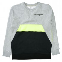 Sweatshirt  - Grey Melange Midnight mit farblich abgesetztem Print
