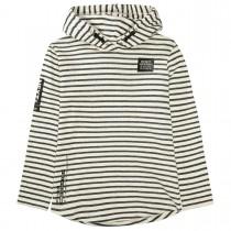Kapuzen Sweatshirt Streifen - Offwhite Structure