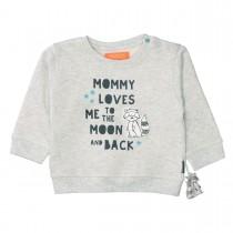 Sweatshirt LOVES ME - Light Grey Melange